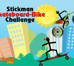 Stickman Skateboard-Bike Challenge